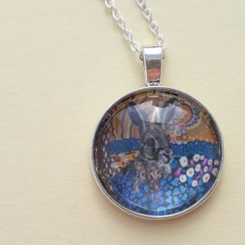 Hare art charm pendant or key ring