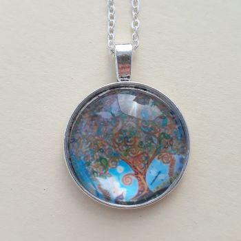 Fairy Tree art charm pendant or keyring