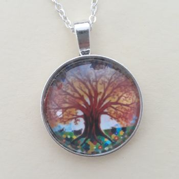 Insect Tree of Life art charm pendant or keyring