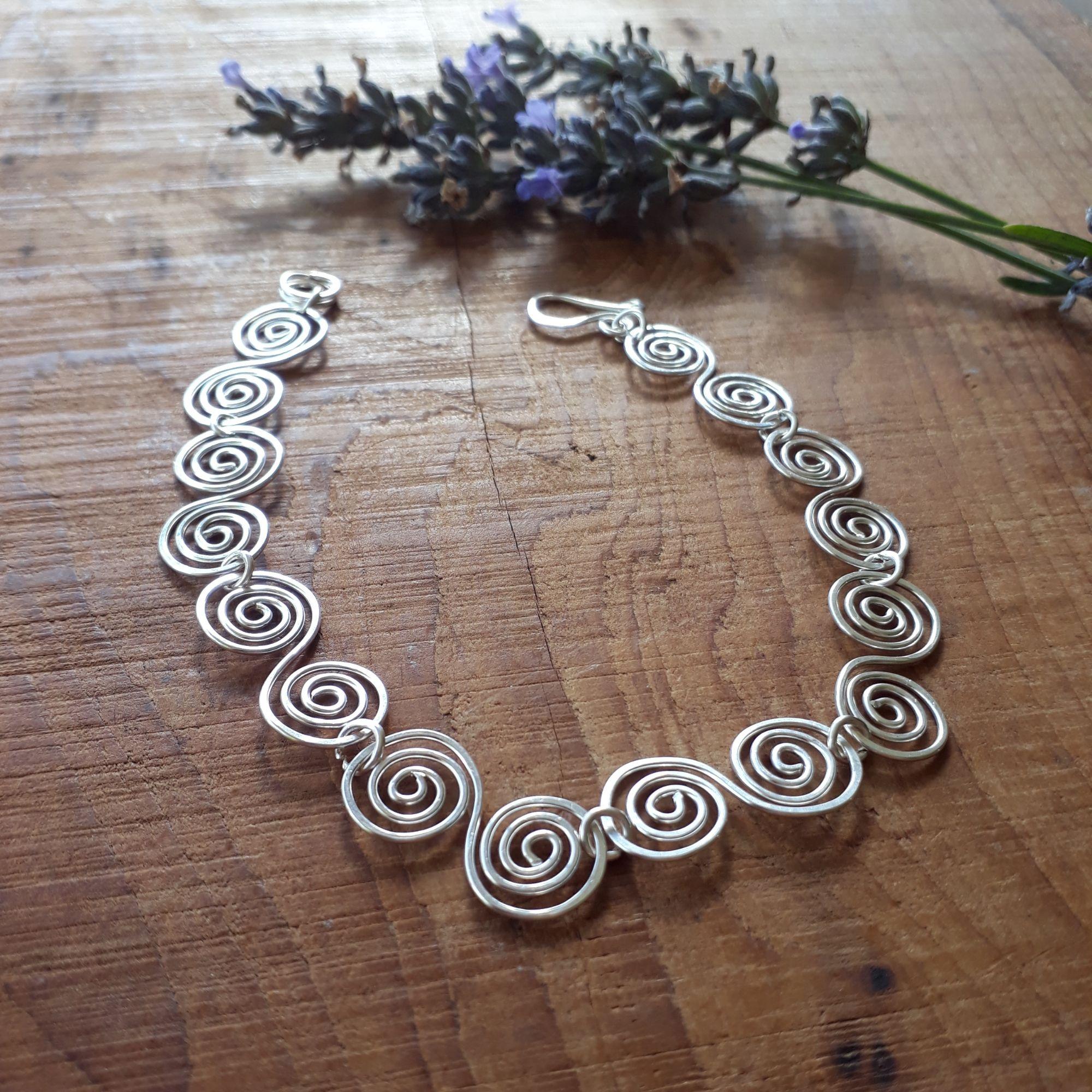 Celtic Silver Spiral Bracelet