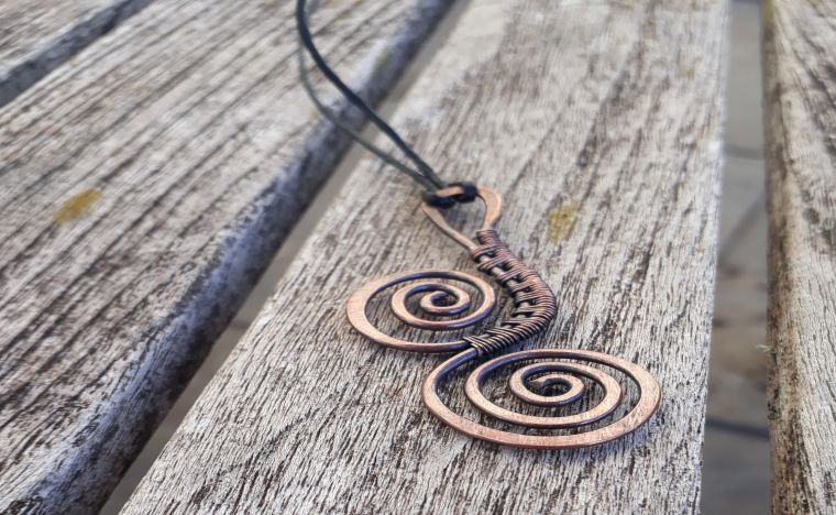 Copper wire wrapped pendants