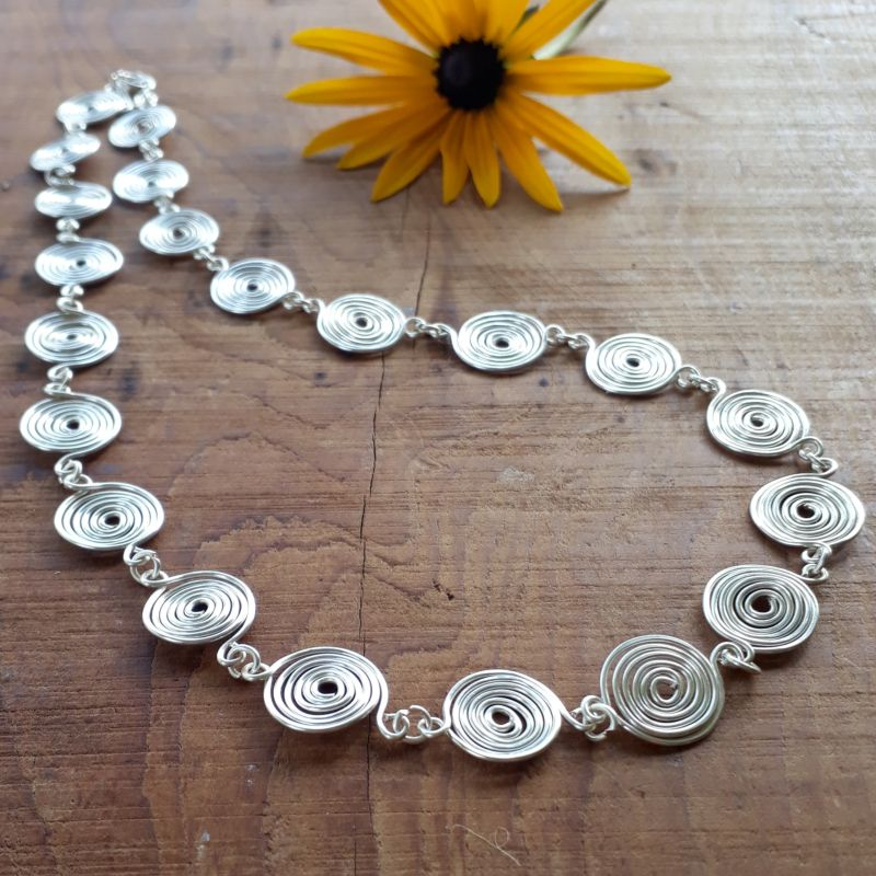 2 Closed Spiral Necklace