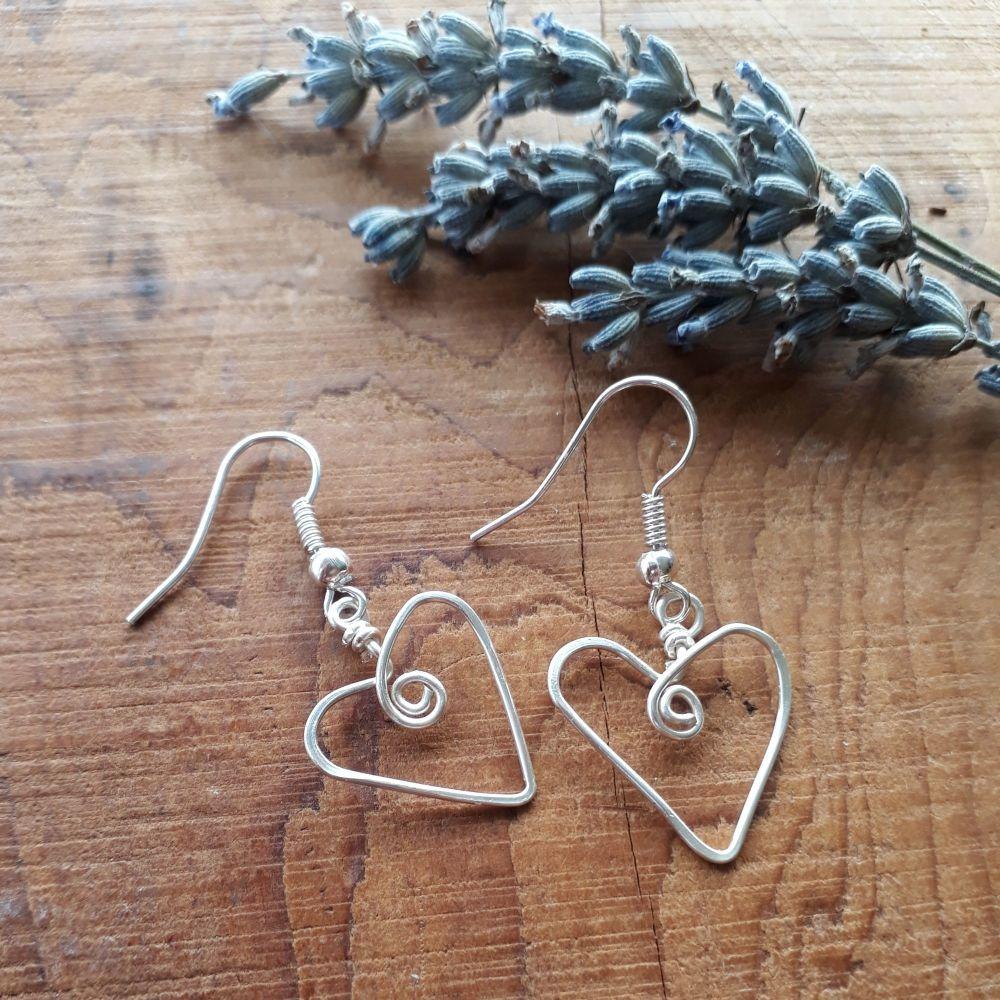 Single Heart Earrings