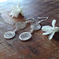 Double open spiral earrings