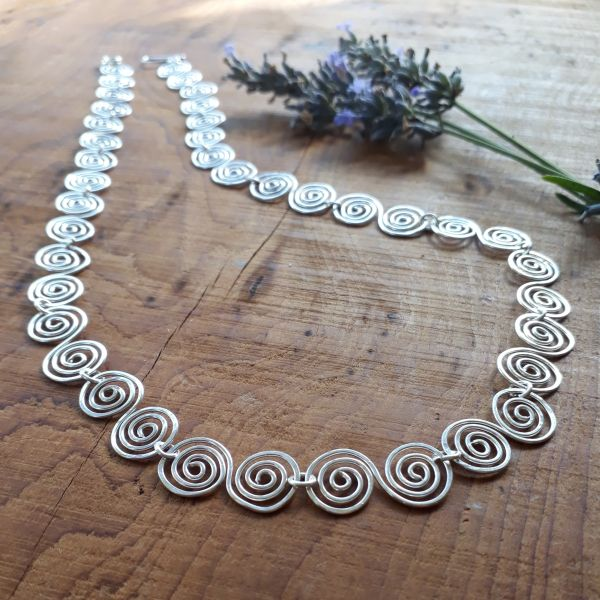 Celtic Silver Spiral Necklace