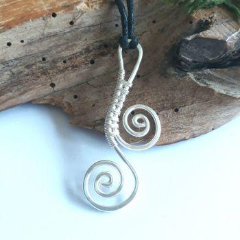Silver Scroll Pendant