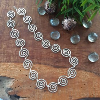 Large Open Spiral Necklace