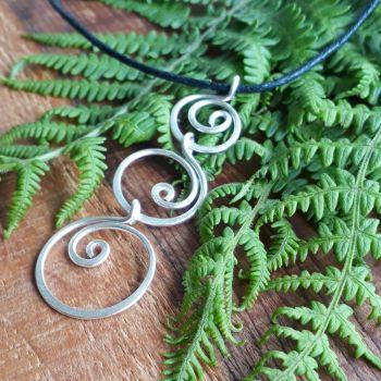 Triple Spiral Silver Pendant