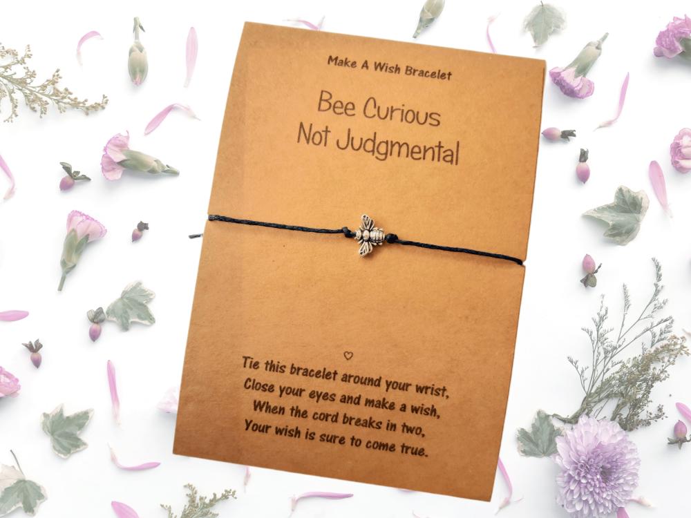 Bee Curious Not Judgemental