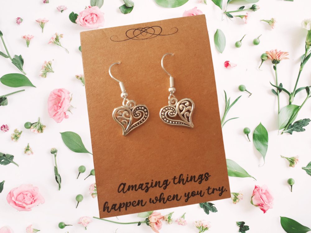 Heart Charm Earrings
