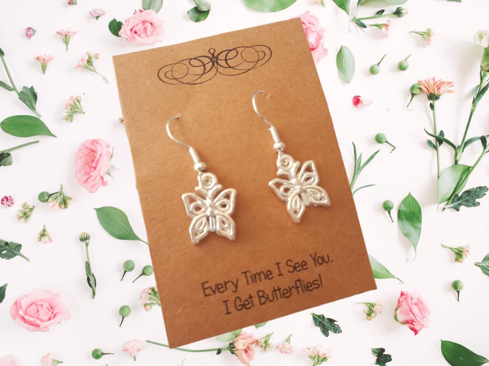 Butterfly Charm Earrings