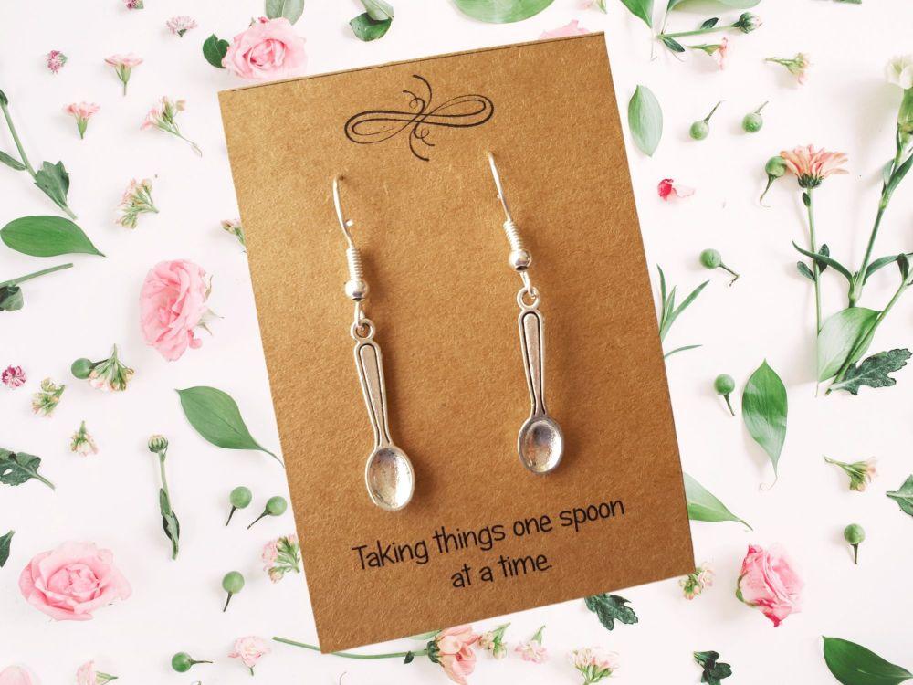 Spoon Charm Earrings