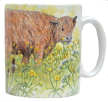 Mug or Coaster-Highland Cow
