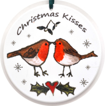 Bauble - Kissing Robins