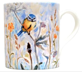 Mugs & Coasters-Blue Tit & Buttercups