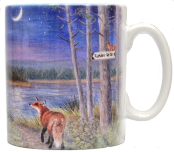 Mugs & Coasters-Night at the lake