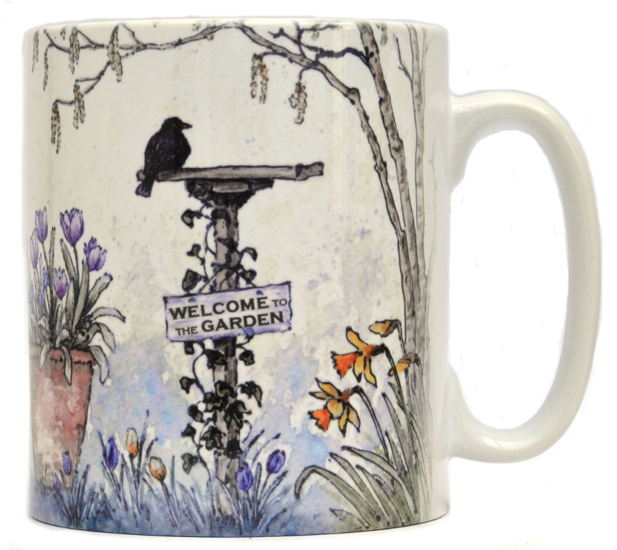 Mugs & Coasters-Spring Bird table