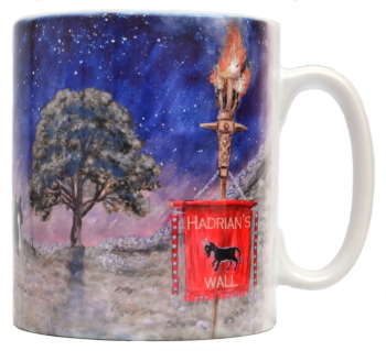 Mugs & Coasters - Dark Skies - Hadrian's Wall - Line of Light