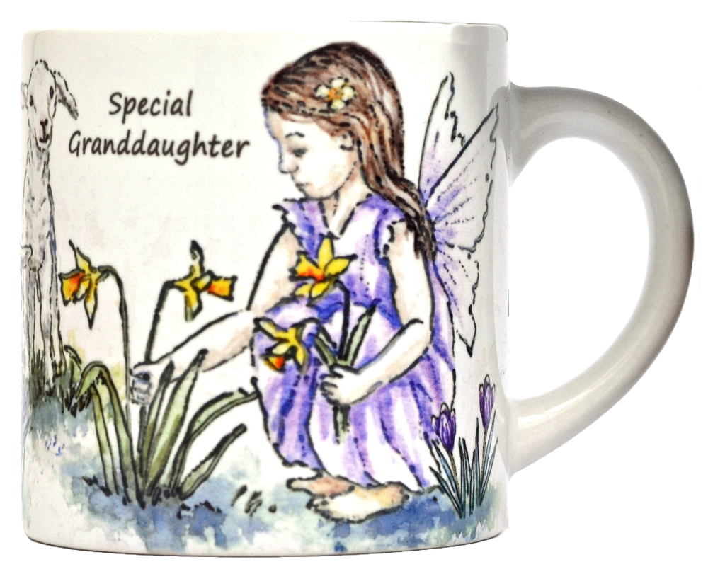 Child's Mug-Spring Fairy- Purple