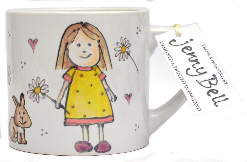Child's Mug-Girl & Rabbits