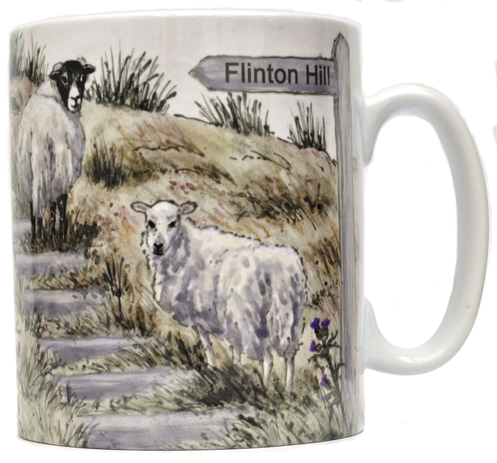 Mug or Coaster-Sheep Steps