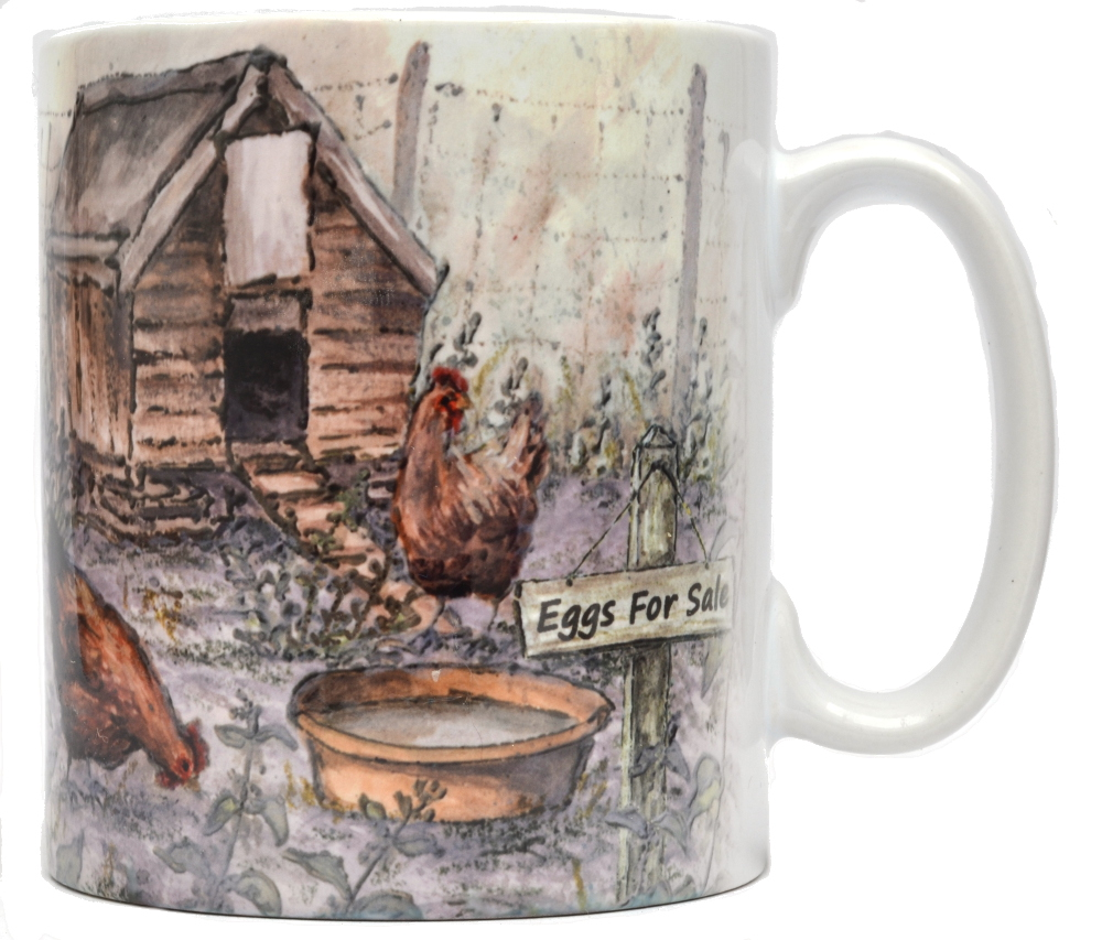 Mugs & Coasters-Hen Hut