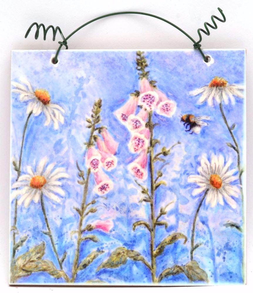 Printed Tile- Monet's Garden