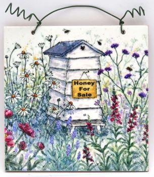 Printed Tile- Beehive