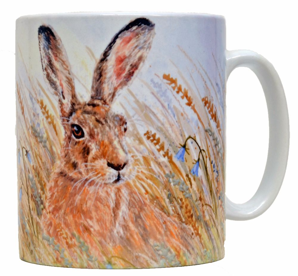 Mug or Coaster-Hare & Harebells