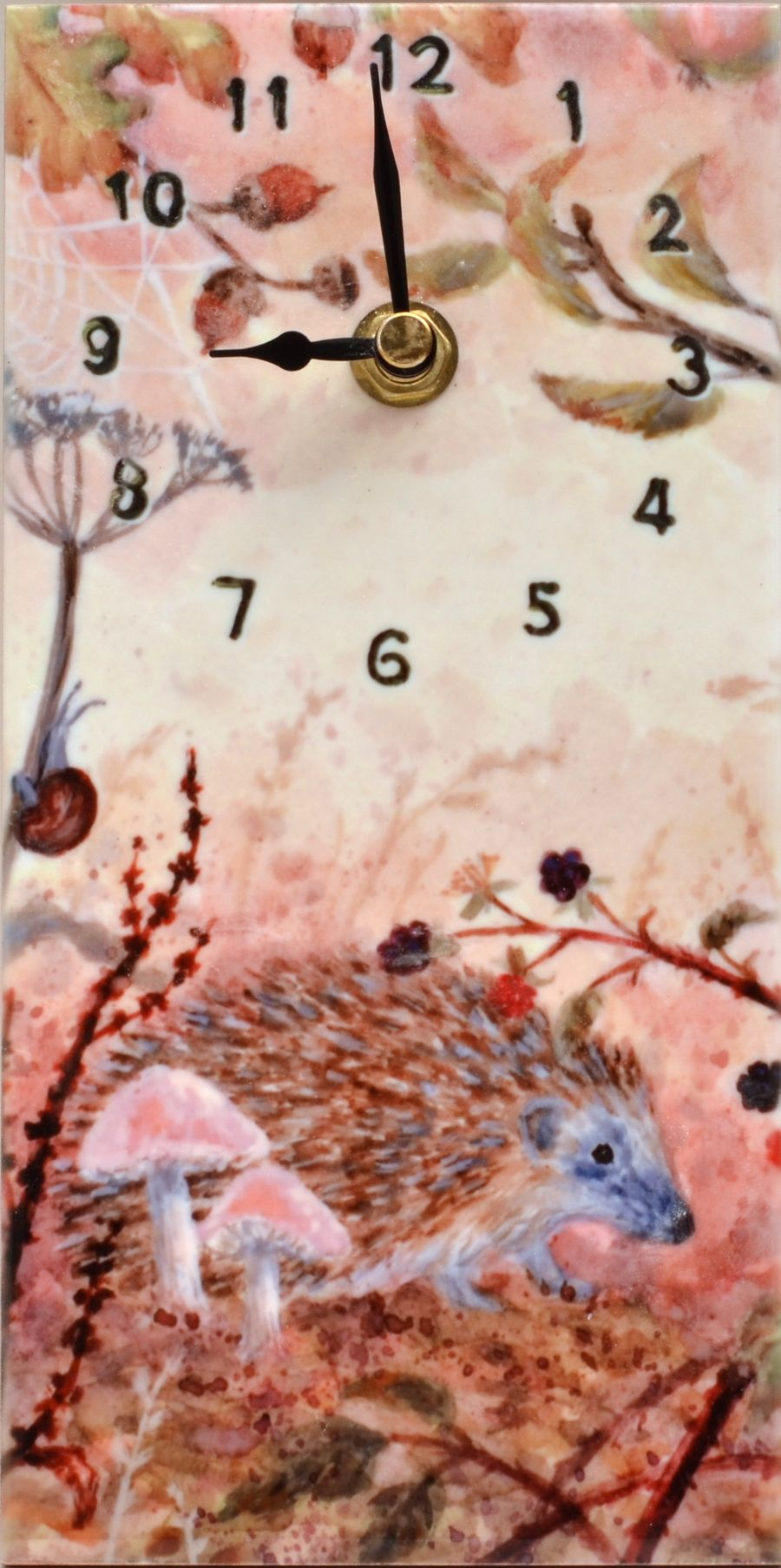 Wall Clock - Autumn Hedgehog