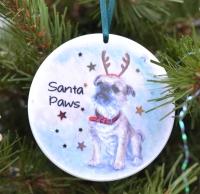 Bauble  - Santa Paws (Lola)