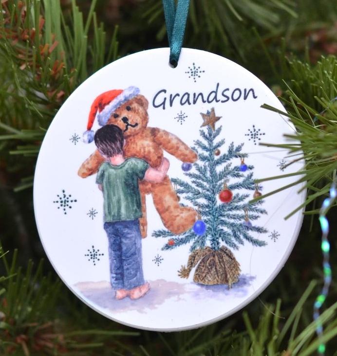 Bauble or Mini Christmas Bags - Girl & Teddy