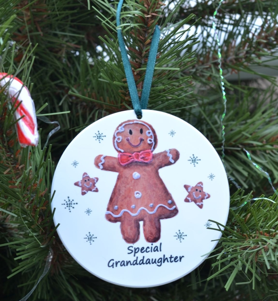 Bauble or Mini Christmas Bags - Gingerbread Girl