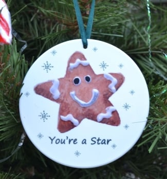 Bauble or Mini Christmas Bags - Gingerbread Star