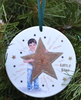 Bauble or Mini Christmas Bags - Star Boy