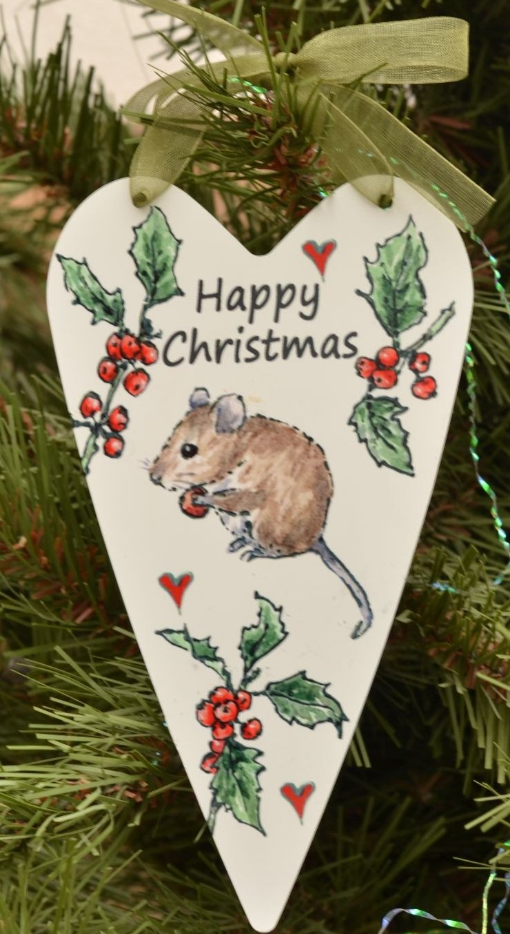 Printed Hearts- Christmas Mouse