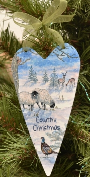 Printed Hearts- Country Christmas