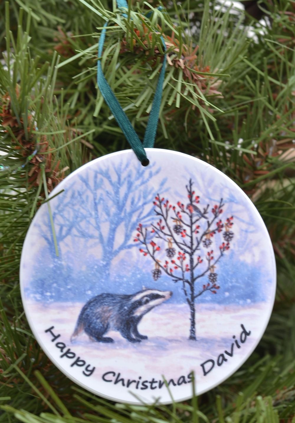 Bauble or Mini Christmas Bags - Badger