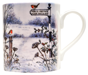 Mugs & Coasters-Winter Footpath
