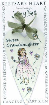 Metal Heart- Fairy Granddaughter - pink