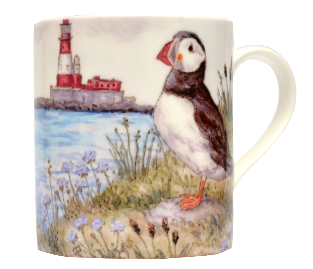 Mugs & Coasters-Puffins & Lighthouse