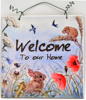 Printed Tile- Welcome Summer