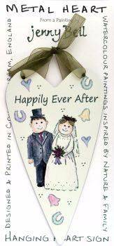 Metal Heart- Wedding Couple - Confetti