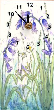 Wall Clock - Bluebells