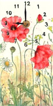 Wall Clock - Poppies