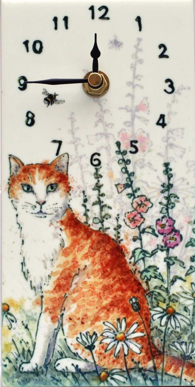 Wall Clock - Ginger Cat
