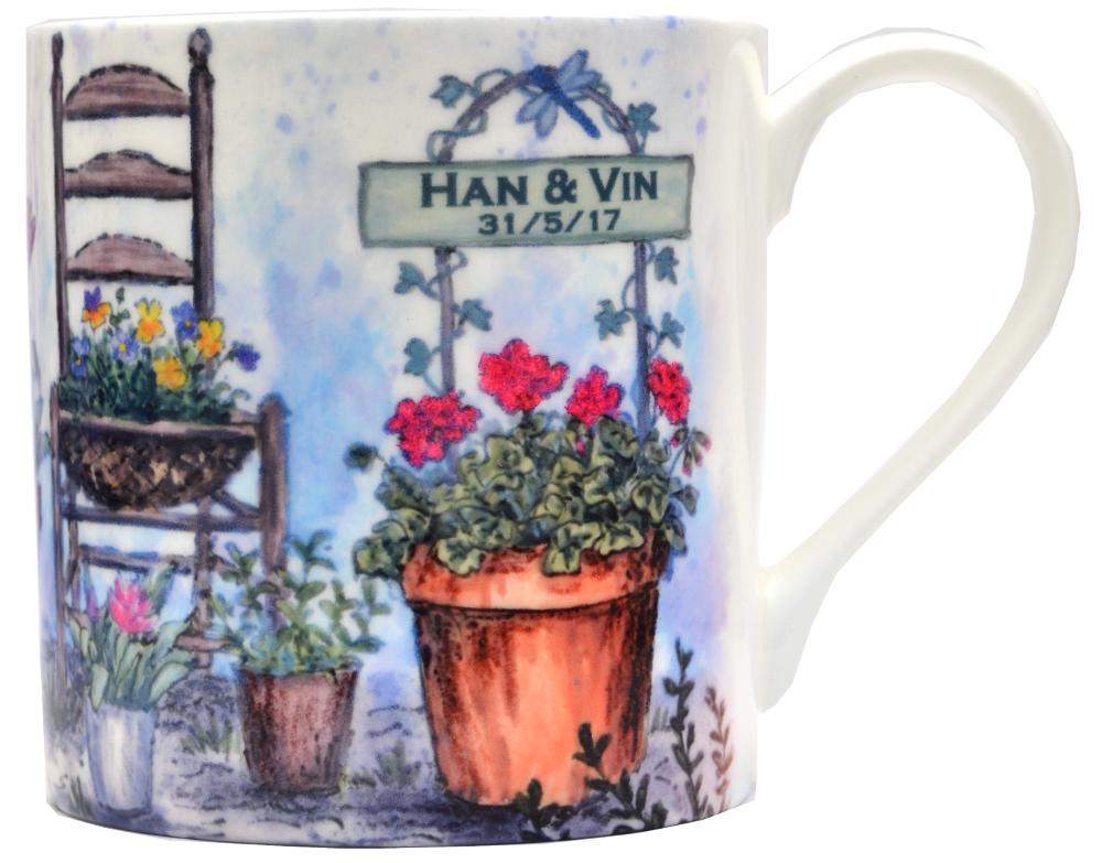 Mugs & Coasters-Welcome Garden Sign.