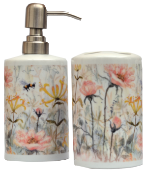 Bathroom Set -Honeysuckle & Roses
