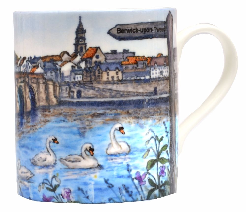 Mugs & Coasters-Berwick-upon-Tweed - Bridges