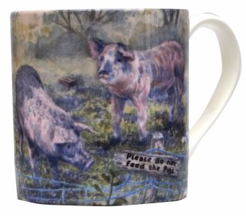 Mugs or Coasters-Pigs
